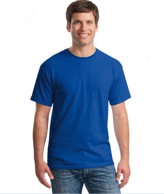 Áo thun trơn màu xanh dương