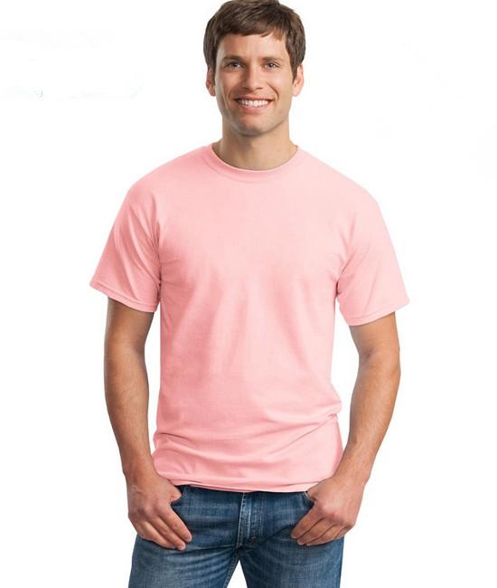 Áo thun trơn màu xanh hồng
