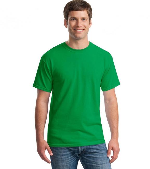 áo thun trơn màu xanh lá cây