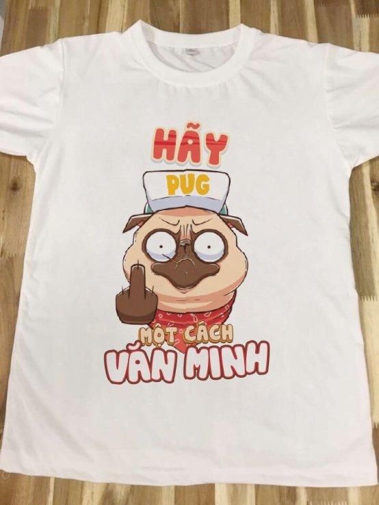 áo thun in hình pug