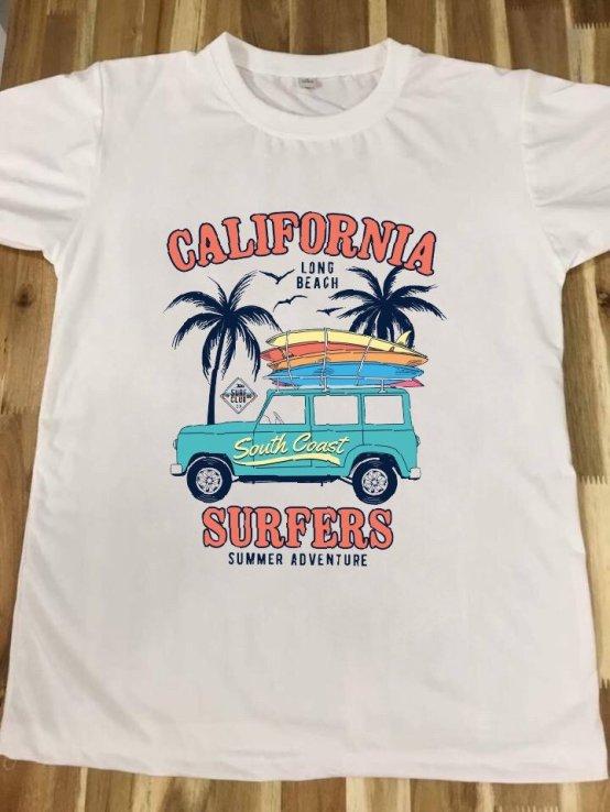 áo thun in hình california
